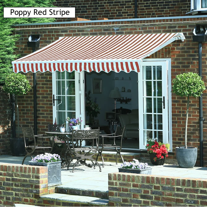 ECKMAN GARDEN PATIO CANOPY SHELTER SUN SHADE AWNING RED
